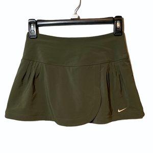 Nike Dri Fit Olive Green Mini Skort Size XS